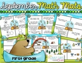 September Math Mats {first grade}