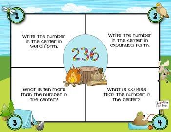 September Math Mats {second grade}