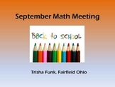 September Math Meeting