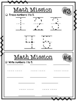 September Math Missions
