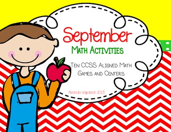 September Math Pack (10 CCSS Aligned Math Games and Centers)