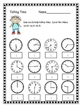September Math Packet