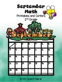 September Math Printables and Centers Grade 2