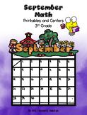 September Math Printables and Centers Grade 3