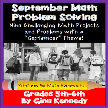 September Math Problem Solving Projects for Upper Elementary Students