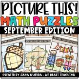 September Math Puzzles / Fall Math Activities