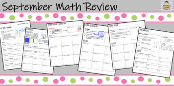 September Math Review - Great diagnostic for basic intermediate skills