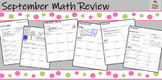 September Math Review - Great diagnostic for basic interme
