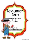 September Math:  Solving Story Problems First Grade