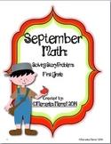 September Math:  Solving Story Problems First Grade