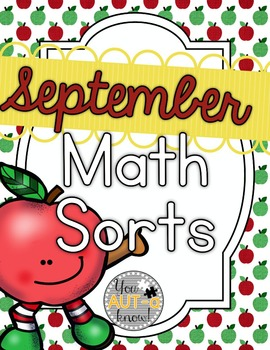 September Math Sorts - CCSS Aligned for Grades K-2