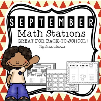 [16] September Math Stations {Back to School, Apples, All About Me, Labor Day}