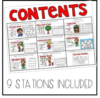 September Math Stations - First Grade