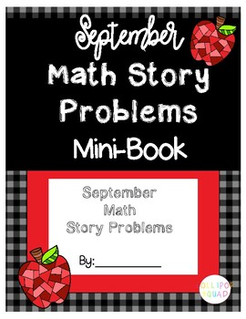 September Math Story Problems Mini-book