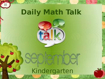 Number Talk - Kindergarten September