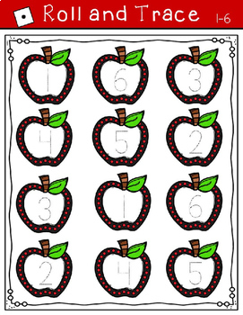 September Math Centers for Kindergarten  (Apple Theme)