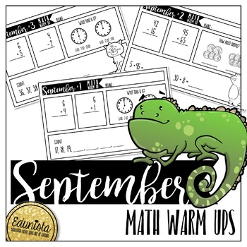September Math Warm Ups - Differentiated for 2 levels!