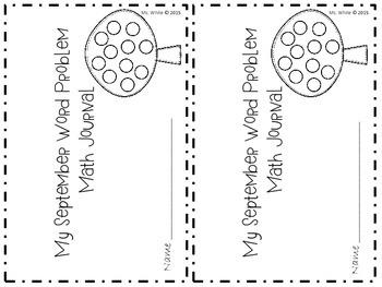 September Math Word Problem Journal {2nd grade CCSS Aligned}