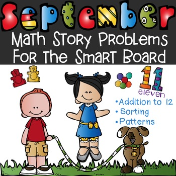 September Math Word Problems for the Smart Board