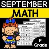 September Math Worksheets 1st Grade