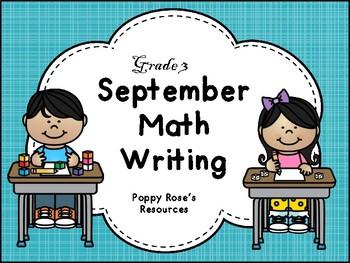 September Math Writing - Grade 3