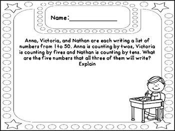 September Math Writing -Grade 2