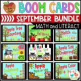 September Math and Literacy Boom Cards Bundle
