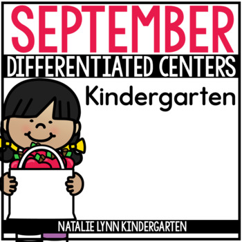 September Math and Literacy Centers for Kindergarten