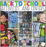 Back to School Math and Literacy Centers and Activities for Preschool