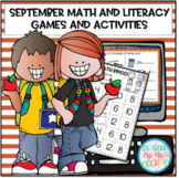 September Math and Literacy Games and Activities Bundle