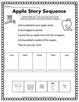 September Math and Literacy NO PREP Fall Printables for Common Core Skills