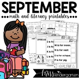 September Math and Literacy Printables