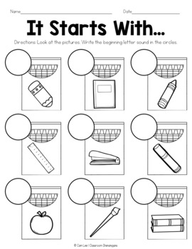 September Math and Literacy Packet - 1st Grade (No Prep Printables)