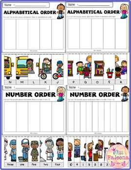 September Math and Literacy Puzzles