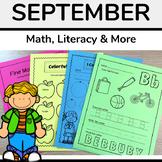 September Math and Literacy Worksheets (No Prep)