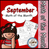 September Math Worksheets, Fall Themed Daily Math, Back to School Theme