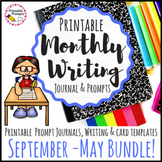 Monthly Writing Prompts Journal