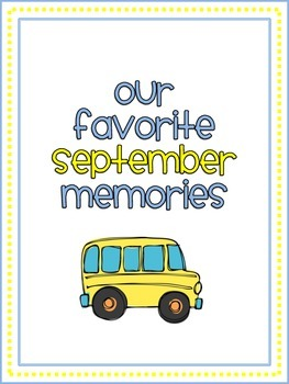 September Memory Writing Prompt