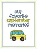 September Memory Writing Prompt