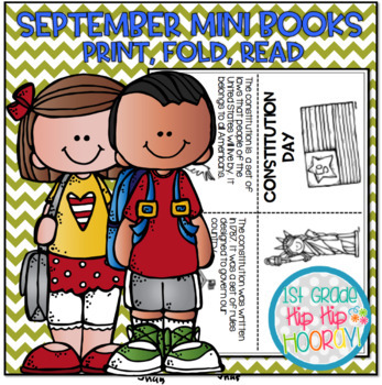 September Mini Books...Just print, fold, read!