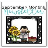 September Monthly Newsletter [Editable]