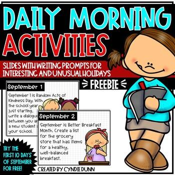 September Morning Activities SAMPLER FREEBIE
