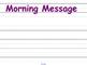 September Morning Meeting & Calendar