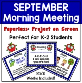 September Morning Meeting PAPERLESS Packet: Greetings, Sha