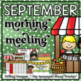 September Morning Meeting and Calendar First Grade