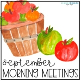September Morning Meetings - Distance Learning - Online Learning