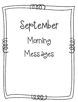 September Morning Message Book