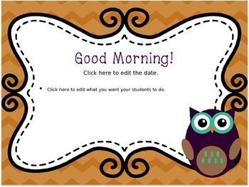 September Morning Message--EDITABLE!