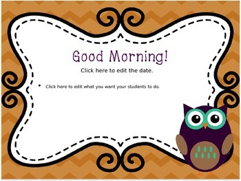 September Morning Message--EDITABLE!