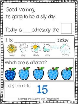 September Morning Message Math Time